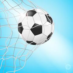 Ball im Netz - sehr detailiert und realistisch