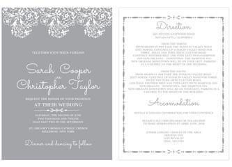 Wedding Invitation Card Invitation with ornaments