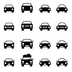Set 1 of icons representing car Vector Illustration