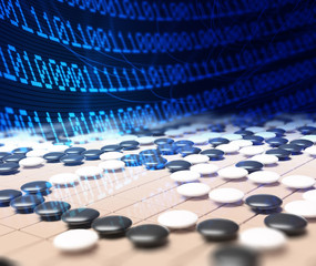 Artificial intelligence competing in the game of go