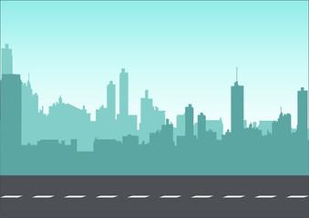Graphic illustration of a cityscape