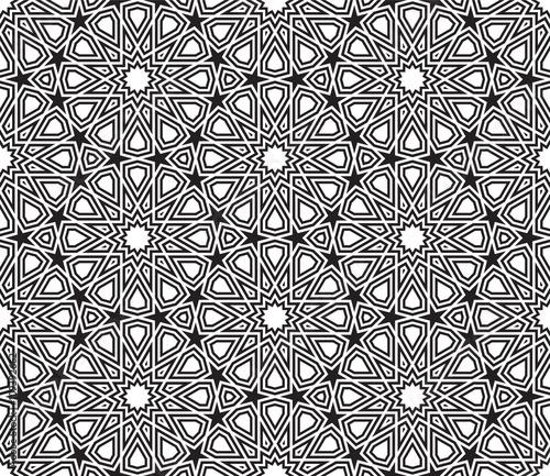 geometric star shape pattern black white designing element vector illustration