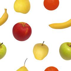 Vector illustration seamless pattern of fruit