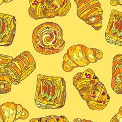SweetCookies. Seamless pattern.