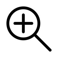 Zoom in or magnify glass line art icon for apps and websites
