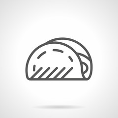 Taco black line vector icon