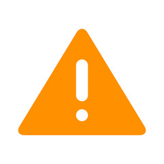 Alert warning or notification alert yellow flat icon for apps and websites