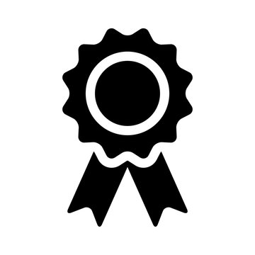 Winning award, prize, medal or badge flat icon for apps and websites