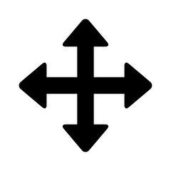 Move directional arrow flat icon for apps and websites