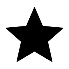 Star rating, movie star or favorite flat icon for apps and websites