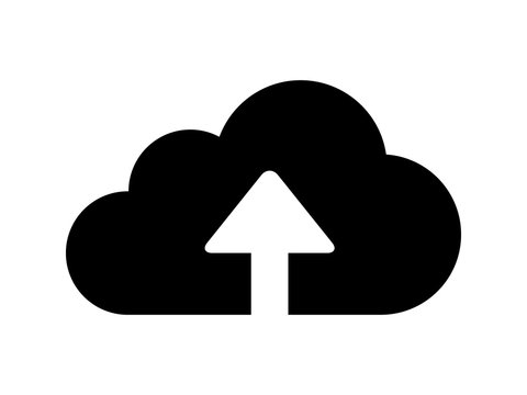 Upload to cloud flat icon for apps and websites