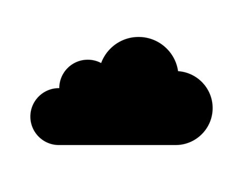 Cloud drive storage or cumulus cloud flat icon for apps and website