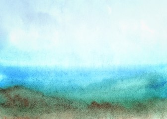 Watercolor abstract landscape background