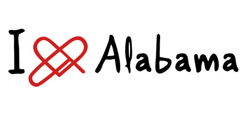 Alabama love icon