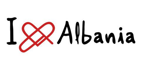 Albania love message