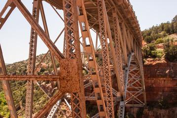 Orange Metal Bridge