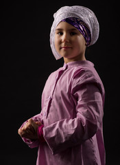 Girl in traditional muslim clothes