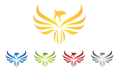 eagle, hawk, phoenix, logo design