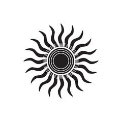 Sun icon - Vector