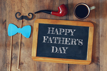 fathers day composition with vintage father's accessories