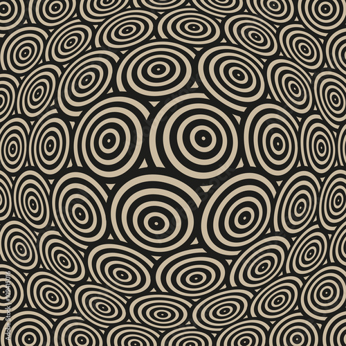 53ce335e88d6 a surface pattern spherical distortion with twisted circles in black and  beige