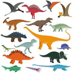 Cartoon Dinosaurs vector illustration.