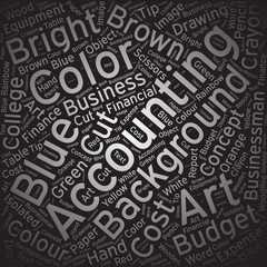 Accounting,Word cloud art background