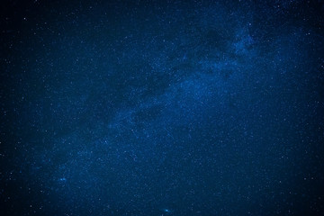Milky way on the dark night sky