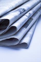 Newspaper Series, blue tone