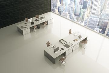 Light office glossy floor
