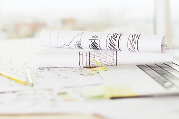 Sketches on paper rolls