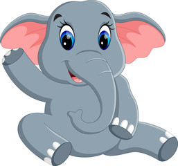 illustration of Cute elephant cartoon