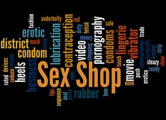 Sex Shop, word cloud concept 7