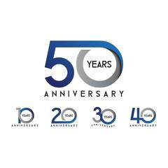 set anniversary 10th, 20th, 30th, 40th, 50th