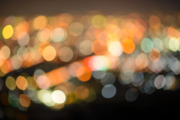 orange bokeh on a dark background