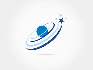 Space stars moon sattelite galaxy logo