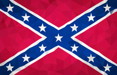 Confederate high poly flag in EPS 8 format