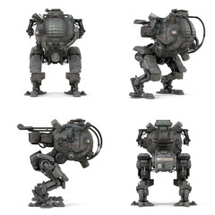 Robot isolated 3D rendering