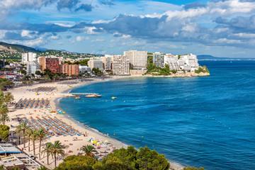 Magaluf Beach and Bay, Calvia, Mallorca, Balearics, Spain