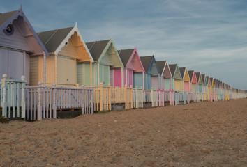 Pastel Beach Huts