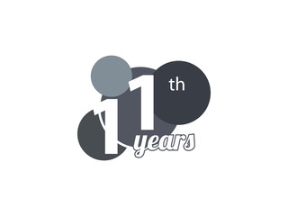 11th year anniversary logo