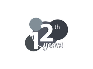 12th year anniversary logo