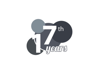 17th year anniversary logo
