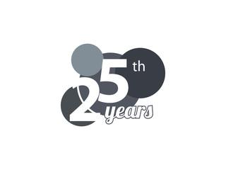 25th year anniversary logo