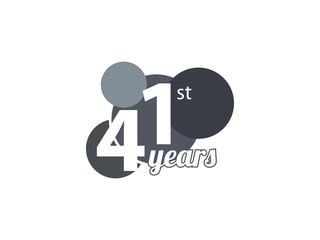 41st year anniversary logo