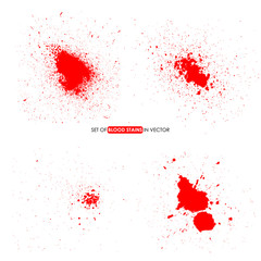 Abstract red color splatter on white background.