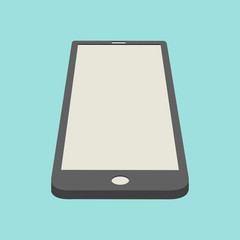 Smartphone icon in perspective view. Design element for infograp