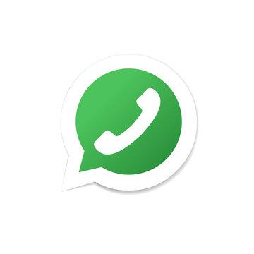Speech bubble icon with phone tube. Phone icon. Design element i