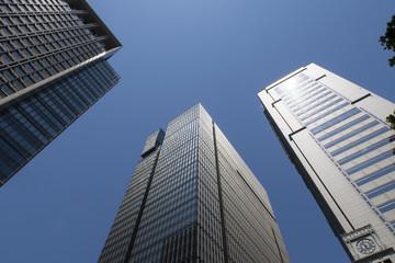 写真素材「大手町の高層ビル群」