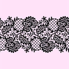 Lace Ribbon Seamless Pattern